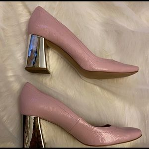 Zara Woman Cracked Pink Patent Leather Pink Shoes